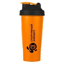 Шейкер Спортивный элемент Агат 1 кам. 600 мл оранжевый