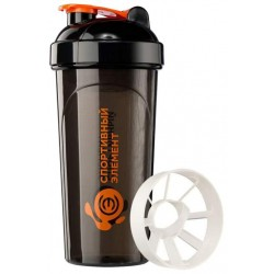 Шейкер Спортивный элемент Турмалин 1 кам. 700 мл черный, оранжевый