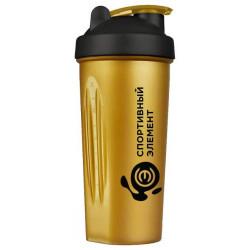 Шейкер Спортивный элемент Черное золото 1 кам. 600 мл черный, золотой