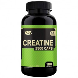 Optimum Nutrition Creatine Monohydrate 2500 100 капсул без вкуса