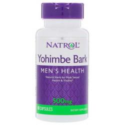 Препарат для мужчин Natrol Yohimbe Bark 500 мг 90 капсул