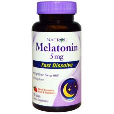 Добавка для сна Natrol Melatonin 150 табл. клубника