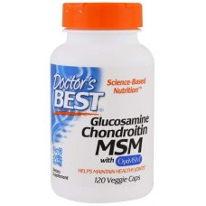 Глюкозамин хондроитин MSM Doctor's Best 120 капс.