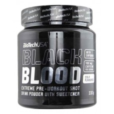 Предтренировочный комплекс BioTech Black Blood CAF 300 г черника