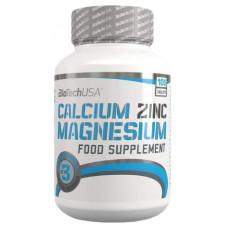 Витаминный комплекс BioTech Calcium Zinc Magnesium 100 таблеток