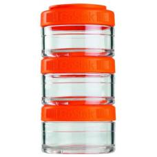 Таблетница Blender Bottle GoStak 3 кам. 60 мл прозрачный, оранжевый