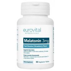Добавка для сна, антиоксидант EuroVital Melatonin 50 табл. клубника