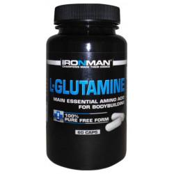 Ironman L-Glutamine 60 капсул без вкуса