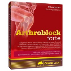 Глюкозамин хондроитин MSM Olimp Labs Arthroblock forte 60 капс.