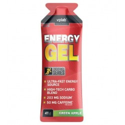 Энергетический напиток VPLab Energy Gel + caffeine 41 г зеленое яблоко
