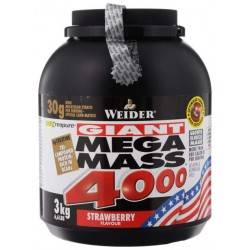 Гейнер Weider Mega Mass 4000 3000 г Strawberry