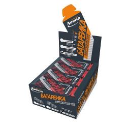 Энергетический гель Арена Батарейка с BCAA и гуараной, со вкусом клубники, 24 штуки