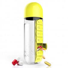 Бутылка Asobu In Style Pill Organizer Bottle 600 мл желтая