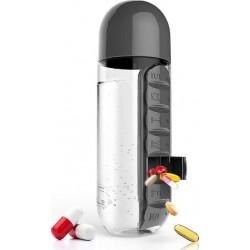 Бутылка Asobu In Style Pill Organizer Bottle 600 мл черная