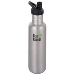Бутылка Klean Kanteen Classic Sport Brushed Stainless 27oz 800 мл