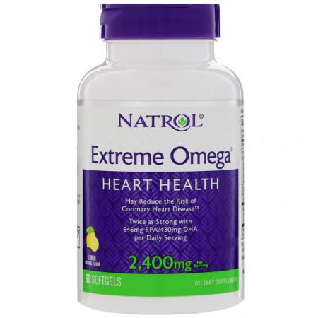 Omega-3 Natrol Extreme Omega 60 капсул
