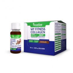 Напиток с коллагеном MyChoice Nutrition My Fitness Wellness Shot 9 шт x 60 мл шоколад