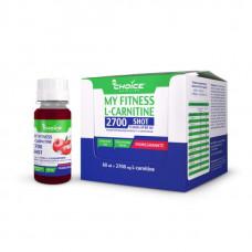 Напиток с L-карнитином MyChoice Nutrition My Fitness 2700 Shot 9 шт x 60 мл гранат
