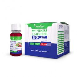 Напиток с L-карнитином MyChoice Nutrition My Fitness 2700 Shot 9 шт x 60 мл красная ягода