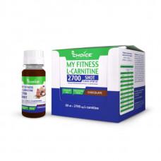 Напиток с L-карнитином MyChoice Nutrition My Fitness 2700 Shot 9 шт x 60 мл шоколад