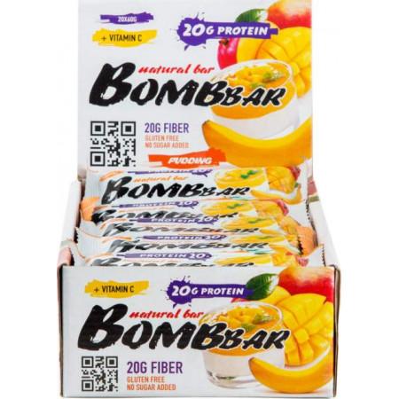 Протеиновый батончик Bombbar Natural Bar 20 шт x 60 г манго-банан
