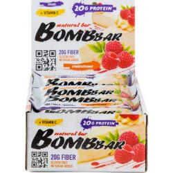 Протеиновый батончик Bombbar Natural Bar 20 шт x 60 г малиновый чизкейк