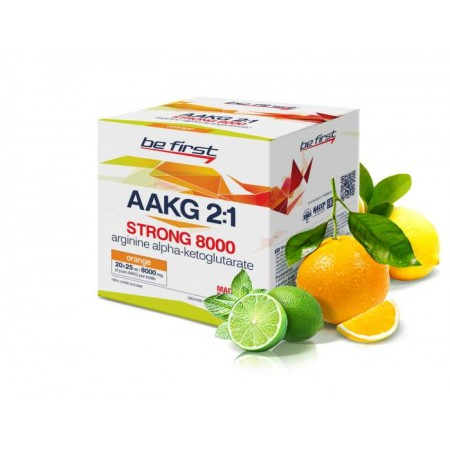 Be First AAKG 8000 Strong 20 ампул по 25 мл цитрусовый микс