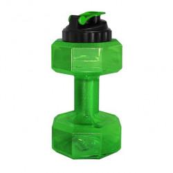 Бутылка-гантеля для воды Be First без логотипа 2200 мл, зеленая
