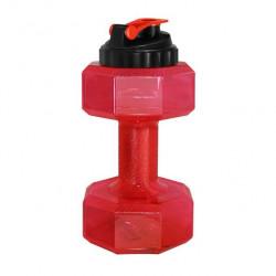 Бутылка-гантеля для воды Be First без логотипа 2200 мл, красная