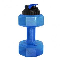 Бутылка-гантеля для воды Be First без логотипа 2200 мл, синяя