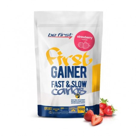 Гейнер Be First Gainer Fast & Slow Carbs 1000 г Strawberry