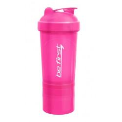 Шейкер Be First 500 мл 3-в-1 розовый