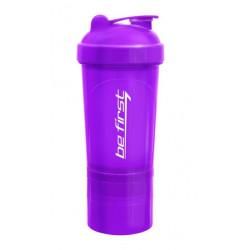 Шейкер Be First 500 мл 3-в-1 фиолетовый