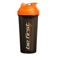Шейкер Be First 700 мл черно-оранжевый