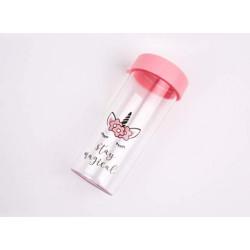 Круглая бутылочка Unicorn розовая