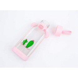 Подвесная бутылочка «Два кактуса», прозрачная