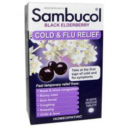 Добавка для иммунитета Sambucol Black Elderberry Cold & Flu Relief 30 таблеток