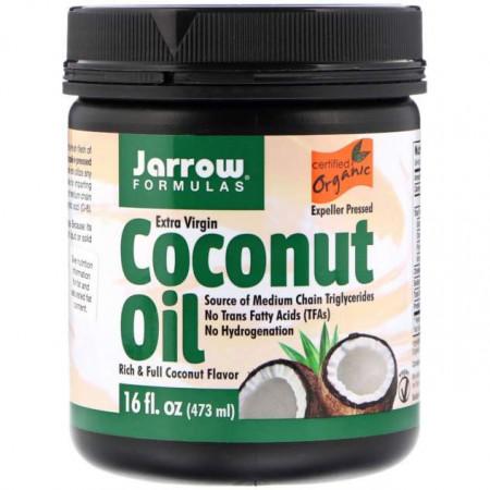 Органическое кокосовое масло Jarrow Formulas Extra Virgin 474 г