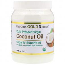 Органическое кокосовое масло California Gold Nutrition 1.6 л