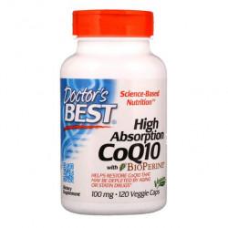 Коэнзим Doctor's Best CoQ10 With BioPerine 120 капсул