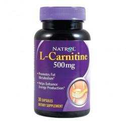 Natrol L-Carnitine 500, 30 капсул