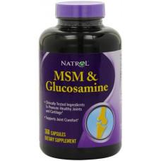 Глюкозамин хондроитин MSM Natrol 360 капсул