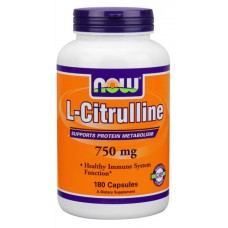 NOW Sports L-Citrulline 750 180 капсул без вкуса