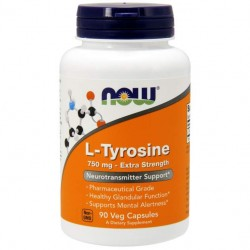 NOW Sports L-Tyrosine 750 Extra Strength 90 капсул без вкуса