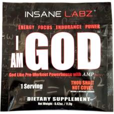Предтренировочный комплекс Insane Labz I Am God 12 г, натуральный