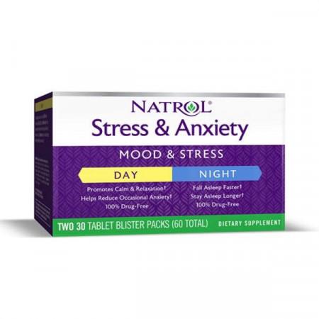 Natrol Stress & Anxiety - 60 таблеток
