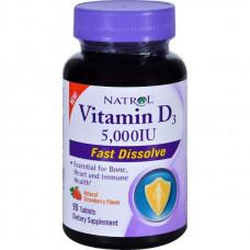 Витамин D Natrol Vitamin D3 5000 90 таблеток