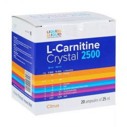 Liquid&Liquid L-Carnitine Crystal 2500, 20 ампул по 25 мл, Citrus