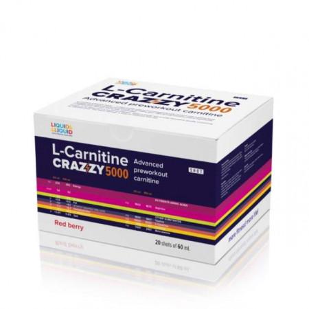 Liquid&Liquid L-Carnitine Crazzy 5000, 20 ампул по 60 мл, Red berry