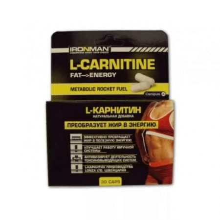 Ironman L-Carnitine 200, 30 капсул